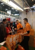 trade booth sales staff for hrie at the National Pet Show