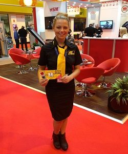 hire staff packaging show at the NEC