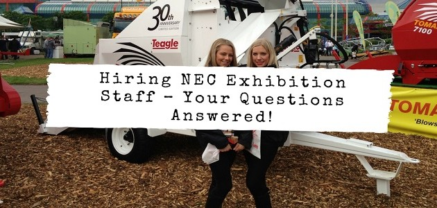 Hiring Exhibition Staff – Your Questions Answered!